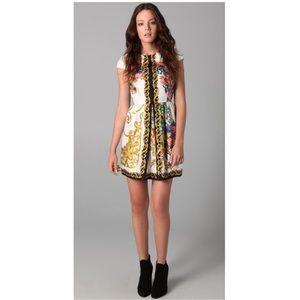 TIBI - Silk Baroque floral cap sleeve mini dress 2